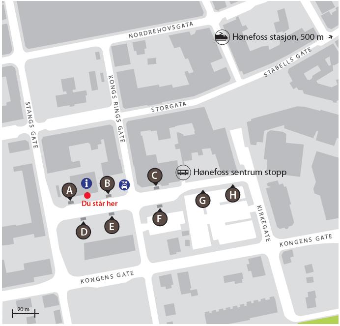 kart hønefoss sentrum Nye plattformer på Hønefoss Sentrum Stopp   Brakar kart hønefoss sentrum